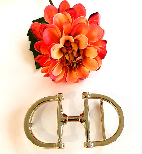 Beltbuckle snaffle gold