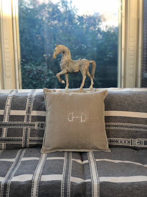 Pillow Snaffle 45x45 taupe