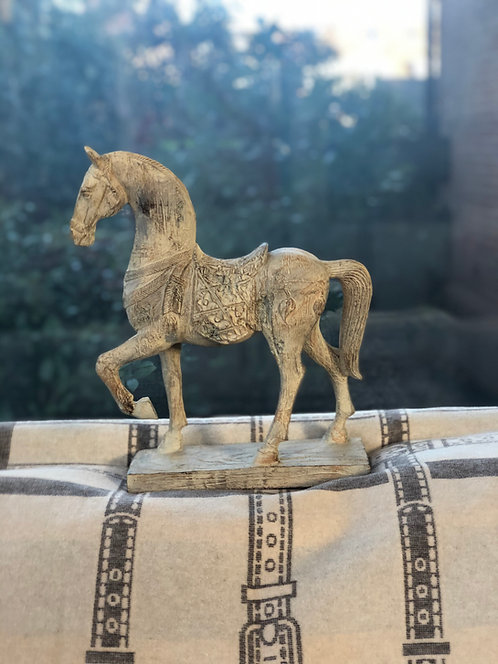 Sculpture Horse taupe/washed