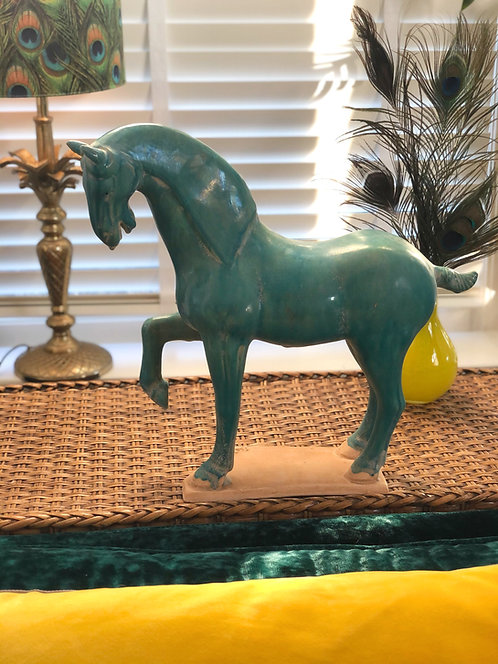 Sculpture Horse turqoise