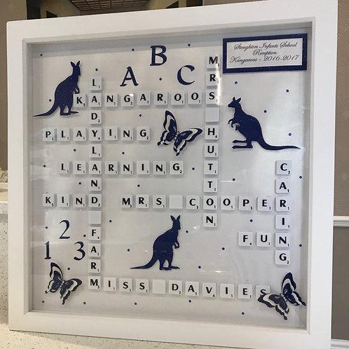 Scrabble Art - Large