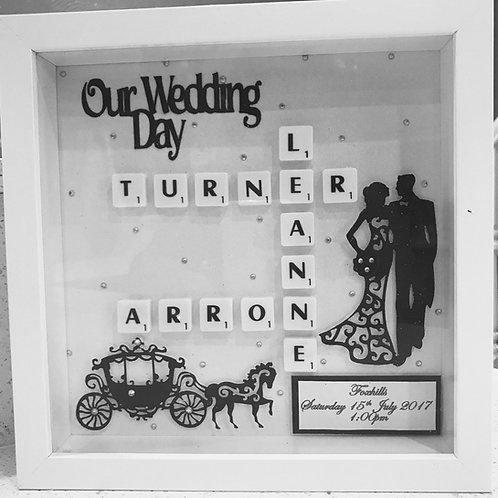 Wedding Memories Scrabble Art
