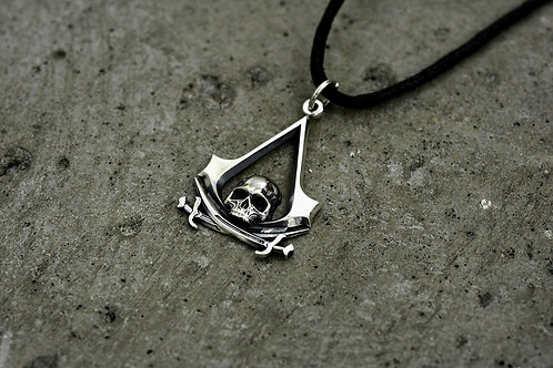 Assasin's Creed Black Flag pendant Sterling Silver