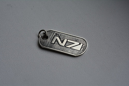 Mass Effect Tag Sterling Silver