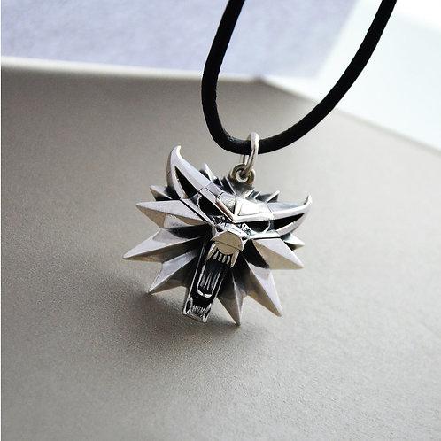 The Witcher wolf Geralt medallion