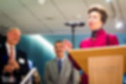 HRH The Princess Royal at a lecturn