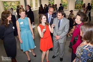 Kate Morgan talking to HRH The Princess Royal and others