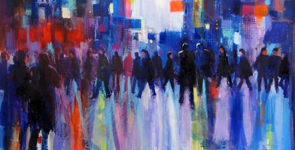 """Painting called """"City Lights"""" by Soraya French"""
