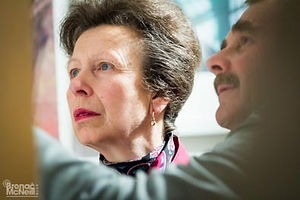 Close-up of HRH The Princess Royal and Nigel Mansell