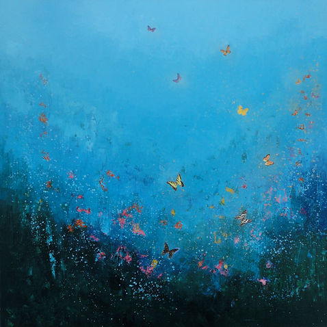 "Painting called ""Free as a Butterfly"" by Laure Bury"