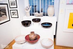 Ceramics on plinths