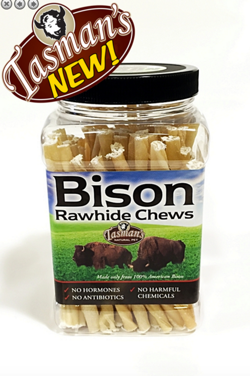 Bison Rawhide Twisters (75 Count) Jar - Small