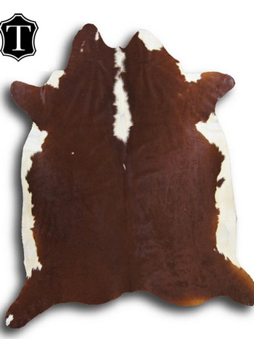 Hair on Rug - Hereford Breed (Red Brown & White)