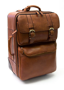 Goodman Bison Suitcase by Tasman USA, is a beautifully made cross-body bag from Genuine Amerian Bison Leather made by Tasman Leather Group in Hartland, Maine USA #UnitedWeTan