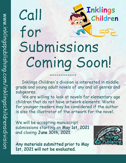 Inklings Children's Division Call for Su
