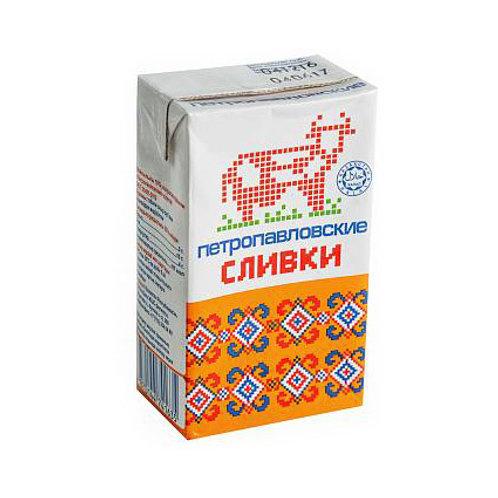 Сливки Петропавловские 10% 0,250гр.