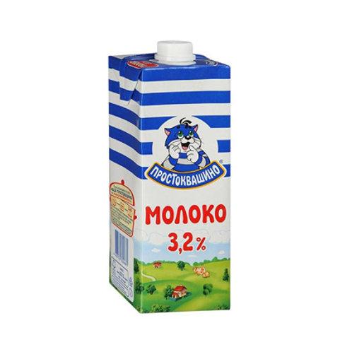 Молоко Простоквашино 3,2% 1л.