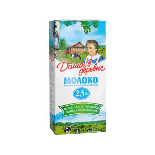 Молоко Домик в деревне 2,5% 1л.