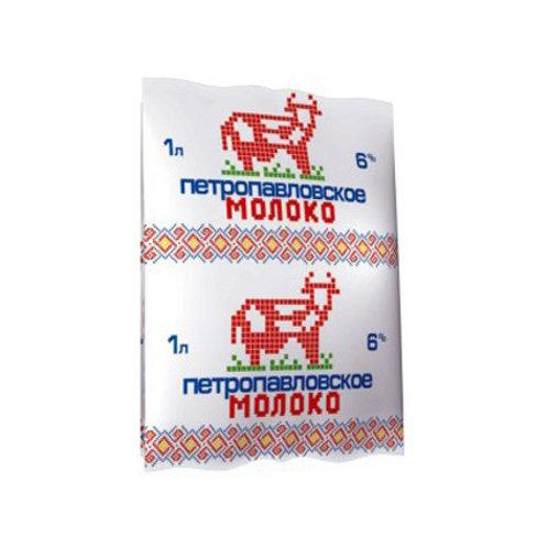 Молоко Петропавловское 6% 1л.
