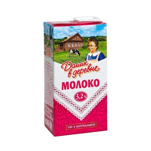 Молоко Домик в деревне 3,2% 1л.