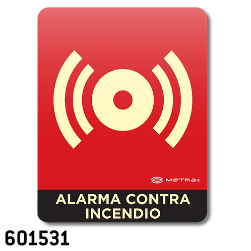 Alarma contra incendio (16 x 20 cm.)