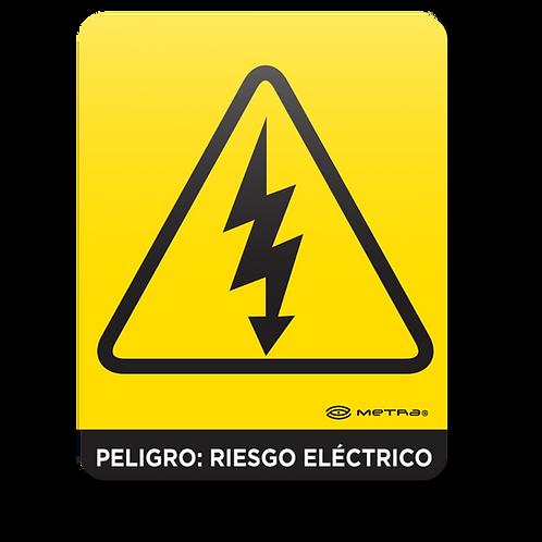 Peligro: Riesgo eléctrico (16 x 20 cm.)
