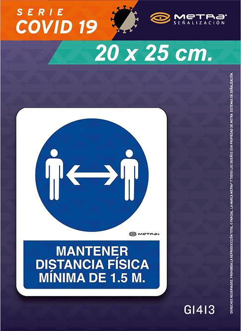 Distancia 1.5 m. (20 x 25 cm) 1 pza.
