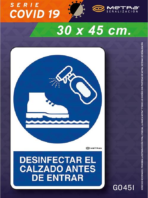 Desinfectar calzado (30 x 45 cm) 1 pza.