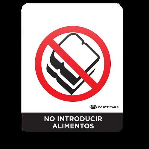 No introducir alimentos (16 x 20 cm.)