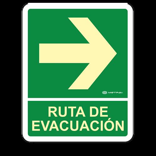 Ruta de Evacuación Derecha (20 x 25 cm.)