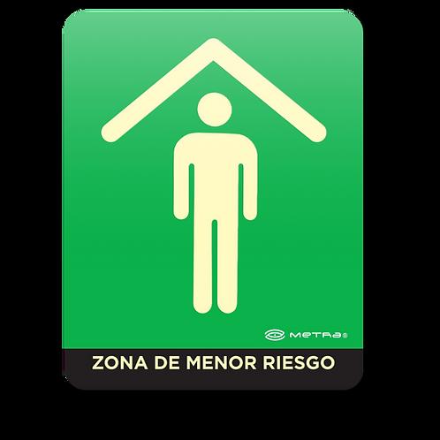 Zona de Menor Riesgo (16 x 20 cm.)