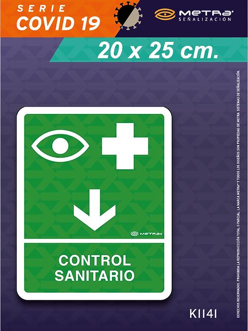 Control sanitario (20 x 25 cm) 1 pza.