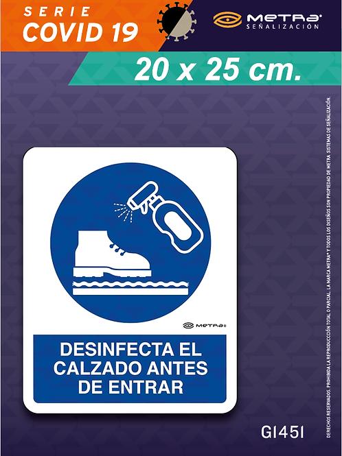 Desinfectar calzado (20 x 25 cm) 1 pza.