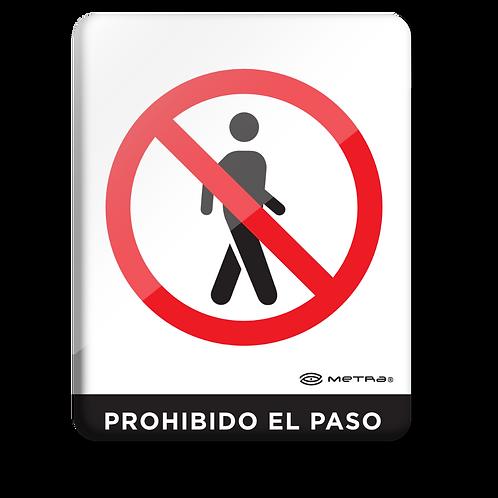 Prohibido el paso (16 x 20 cm.)