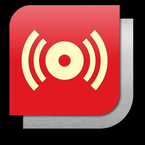 Alarma contra incendio (18.5 X 18.5 cm.)