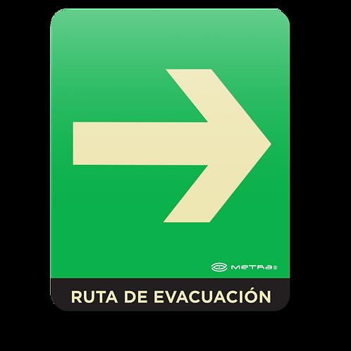 Ruta de evacuación derecha (16 x 20 cm.)