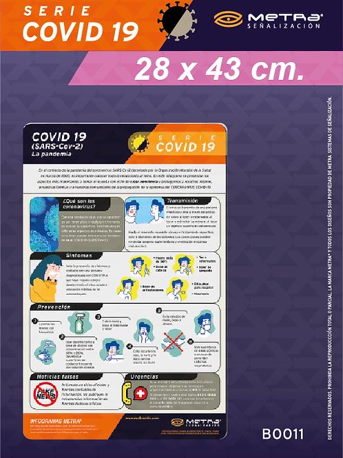 COVID-19 (28 x 43 cm) 1 pza.