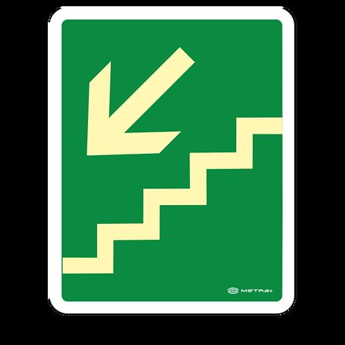 Escalera de Emergencia Izquierda (20 x 25 cm.)