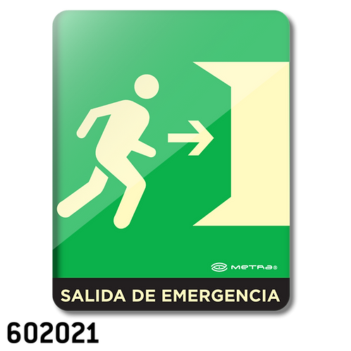 Salida de Emergencia (16 x 20 cm.)