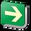 Thumbnail: Ruta de Evacuación Derecha (18.5 X 18.5 cm.)