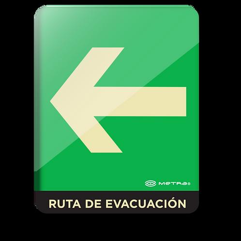 Ruta de Evacuación Izquierda (16 x 20 cm.)
