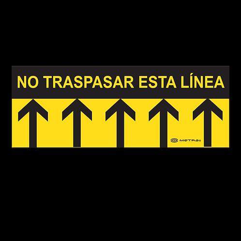 Cenefas de límite (40 x 15 cm) 5 pzas.