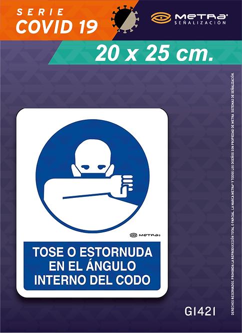 Toser o estornudar (20 x 25 cm) 1 pza.