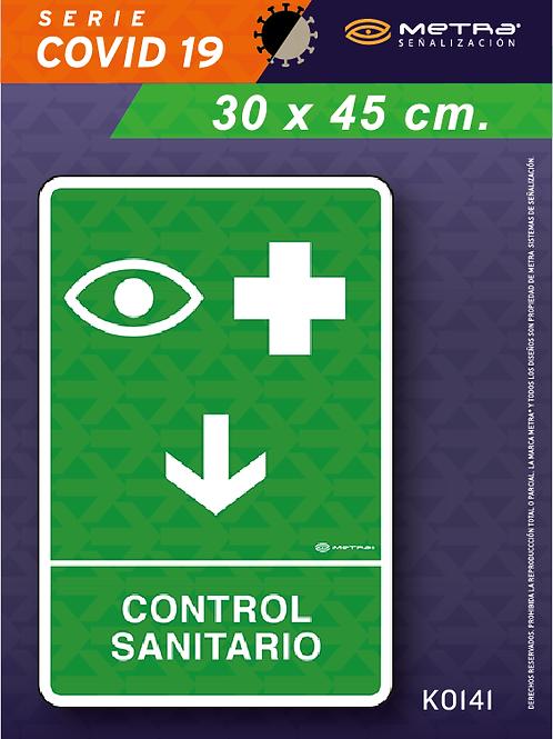 Control sanitario (30 x 45 cm) 1 pza.
