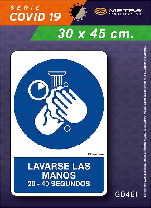 Lavarse manos (30 x 45 cm) 1 pza.