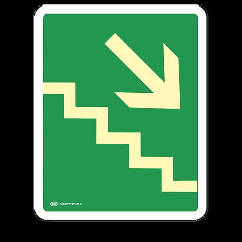 Escalera de Emergencia Derecha (20 x 25 cm.)
