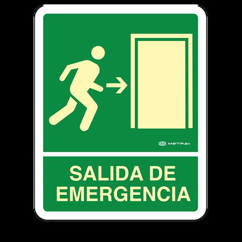 Salida de Emergencia (20 x 25 cm.)