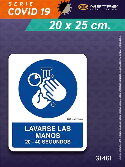 Lavarse manos (20 x 25 cm) 1 pza.