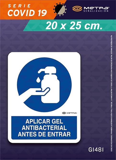 Gel antibacterial (20 x 25 cm) 1 pza.
