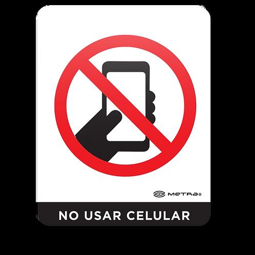 No usar teléfono celular (16 x 20 cm.)